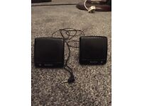 Sony travel portable speakers with standard jack. Fits Iphone,iPod,Samsung etc