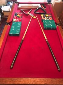 New Snooker/ Pool Antique 100% Mahogany Slate Dining Table