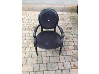 Black French style dressing chair