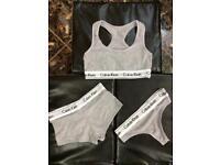 3bca994d30 Calvin Klein CK grey underwear set lingerie set x 3 piece set