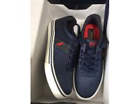 New Ralph Lauren Navy Trainers- Never worn Size 3 1/2