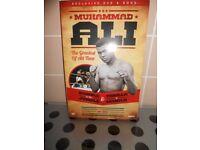 NEW - MUHAMMAD ALI DVD & BOOK SET