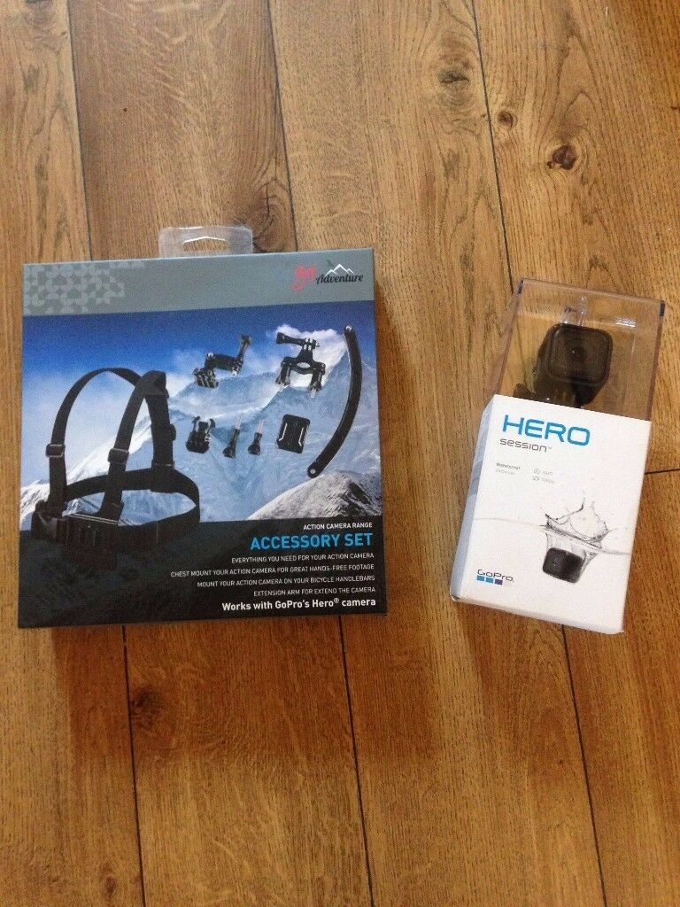 GoPro Hero Session 4 8MP/4k with accessory pack (new unopened) £130 ono