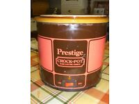 CROCK POT SLOW ELECTRIC COOKER MADE BY PRESTIGE