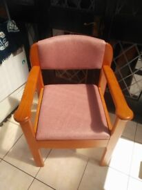 Padded Salmon New Bedroom Commode Chair Discrete Toilet