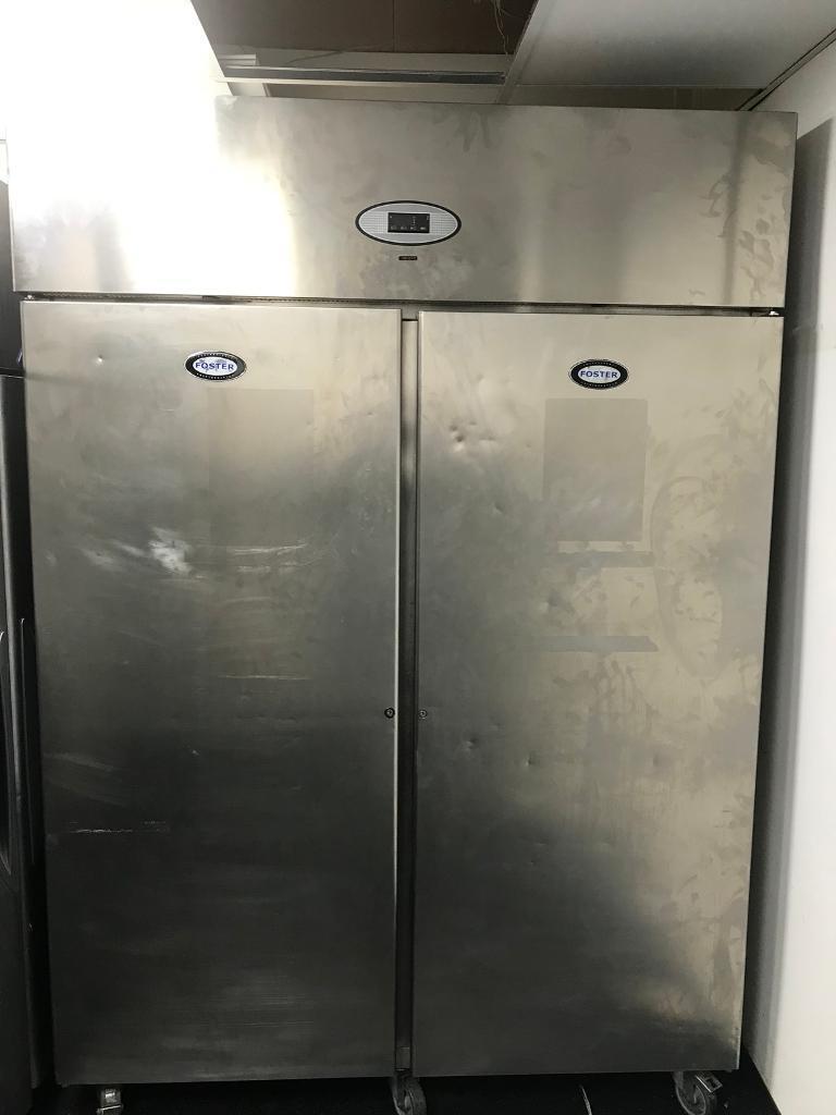 Fosters double door stainless steel freezer said