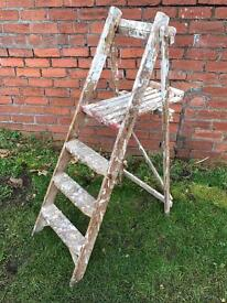 Old wooden Stepladders