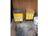 2 x 110v multi plug transformers
