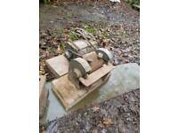 Vintage bench grinder and motor