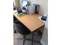 3 free office desks for collection on Wednesday 28th March. Approx 2m x 1m