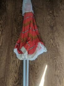 Vintage colourful parasol with carry bag