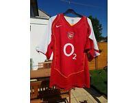 Arsenal football shirt size large