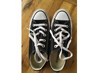 Converse trainers - black - size 3. Pristine condition