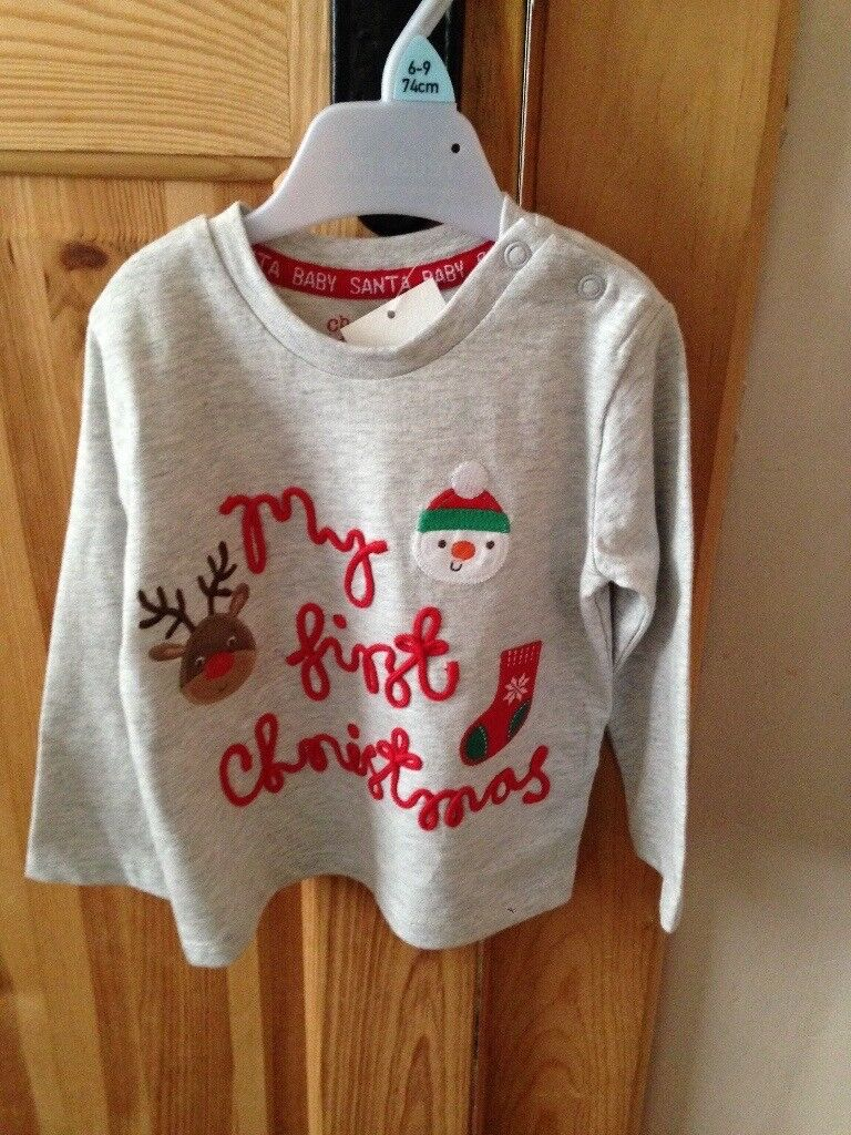 My 1st Christmas top 6-9months unisex