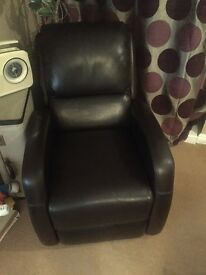 Art Deco style leather recliner