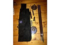 X pole Sport static chrome 45mm pole with carrying case