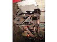 Vintage table saw/thicknesser/planer. Farm/workshop.