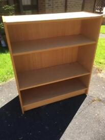 PINE WOOD EFFECT BOOKCASE - CAN DELIVER