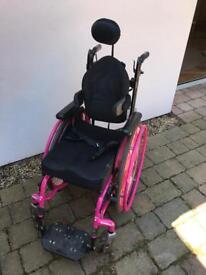 Children's self propelled folding wheelchair