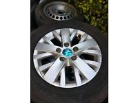 """VW T5 Alloys load rated tyres 5X120 PCD, caravelle 16"""""""
