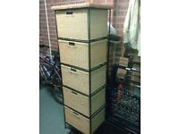 Wicker / rattan chest of drawers