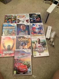 Nintendo Wii console and games