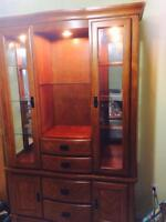 Hutch with dining table