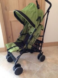 Silver cross buggy/stroller for sale. Good condition, foldable , reclines. Rain cover included.