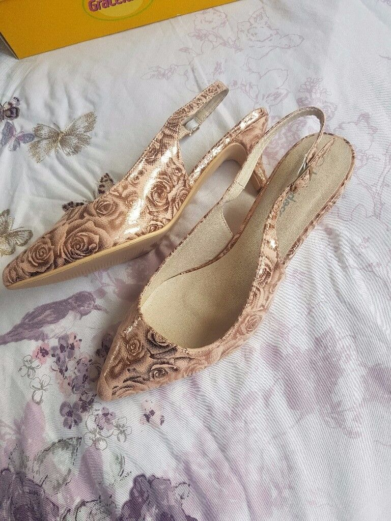 kaleidoscope shoes Pink Rose Metallic sz 5