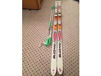 Blizzard Absorber Thermo V20 skis, Salomon bindings, R30 195cm plus ski poles