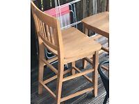 2 breakfast bar chairs/stools