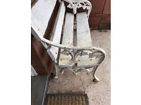 Solid handmade iron bench