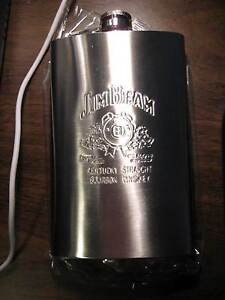 Brand New Sealed In Box Jim Beam Whiskey 10oz Flask