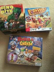 Dino Bite, Mouse & Cheese, Buckaroo Games for sale or swap.