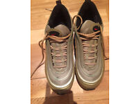 GOLD NIKE AIR MAX 97 TRAINERS SIZE 6 - GREAT CONDITION