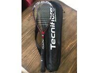 Technifibre Carboflex 125S squash racket and black bag