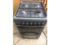 INDESIT KD3G2S 50CM DOUBLE OVEN GAS COOKER