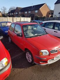 Nisaan micra. 1.0l. 12 months mot. Very tidy example for its age with no rust. Low milage at 61415