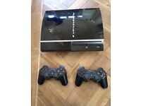 PS3, 2 controllers, plus games