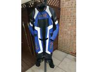 Motorbike 1 piece leather suit.