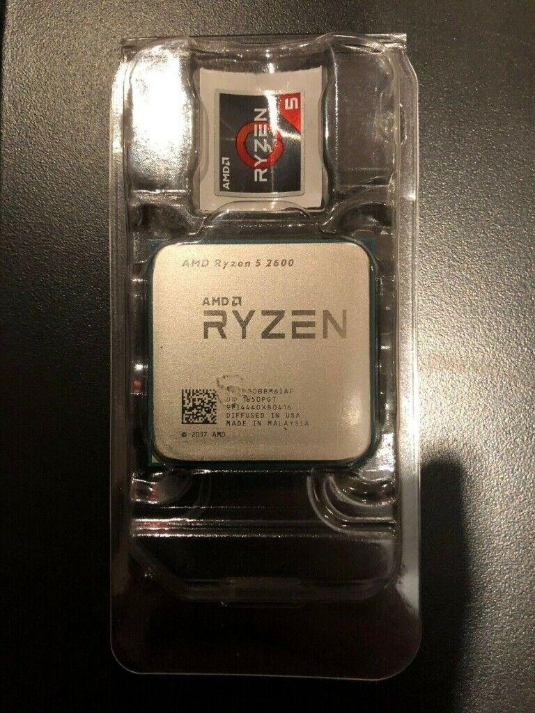 NEW AMD Ryzen 5 2600 3 9GHz Boost Six Core CPU Socket AM4 Processor OEM |  in Enfield, London | Gumtree