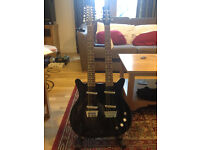 Danelectro DB 612-BLK 6/12 string Electric guitar. Immaculate Condition. Gig bag. Not Gibson/Fender.