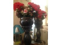 Beautiful flower pots designer with hubs and stands £40