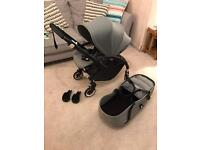 Bugaboo Bee 🐝 Black and Grey LATEST from John Lewis + All Adaptors
