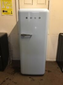 Smeg fridge freezer with ice box FAB28QAZ1 pastel blue 3 months warranty free local delivery!!!!!!