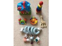Toy bundle worth £90. Leapfrog, vtech, Sophie giraffe