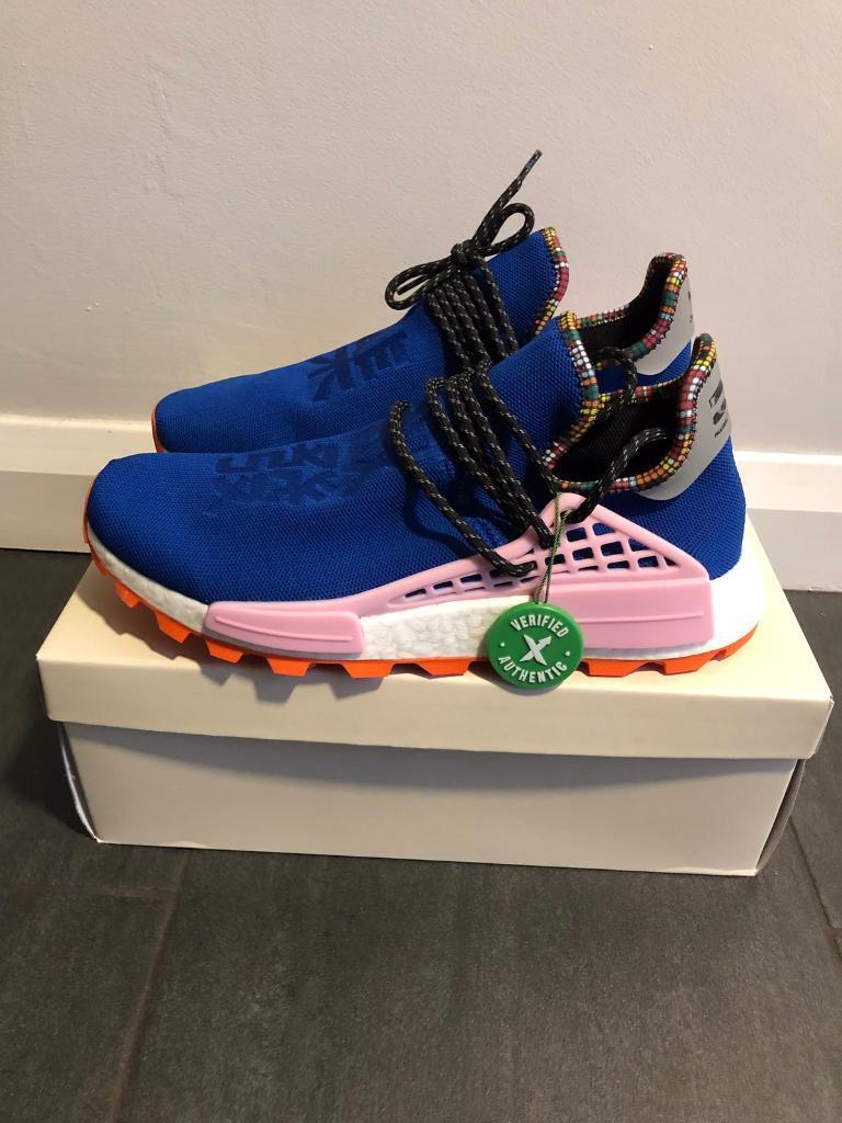 0dfd4900e2ff2 Adidas x Pharrell Williams SolarHU NMD Blue   White Size 9 UK (9.5 ...