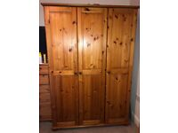 Solid wooden pine cupboard
