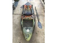Fishing kayak. Pike boat
