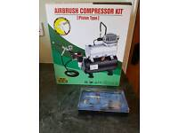Mini air compressor and spray gun for nails/modelmaking or crafts